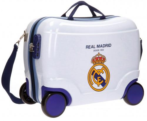 Maleta Infantil 4 ruedas real madrid classic blanca 5621053
