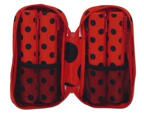 Plumier con 4 Portatodos Llenos Ladybug 411702747 interior