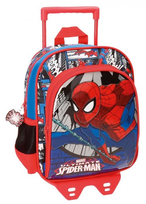 Mochila con Carro Spiderman 28 cm 21621N1
