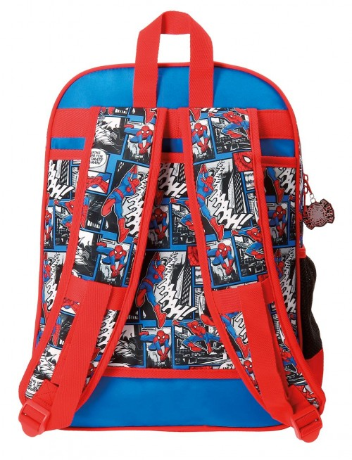 Mochila Adapotable 38 cm Spiderman 21623B1 dorsal