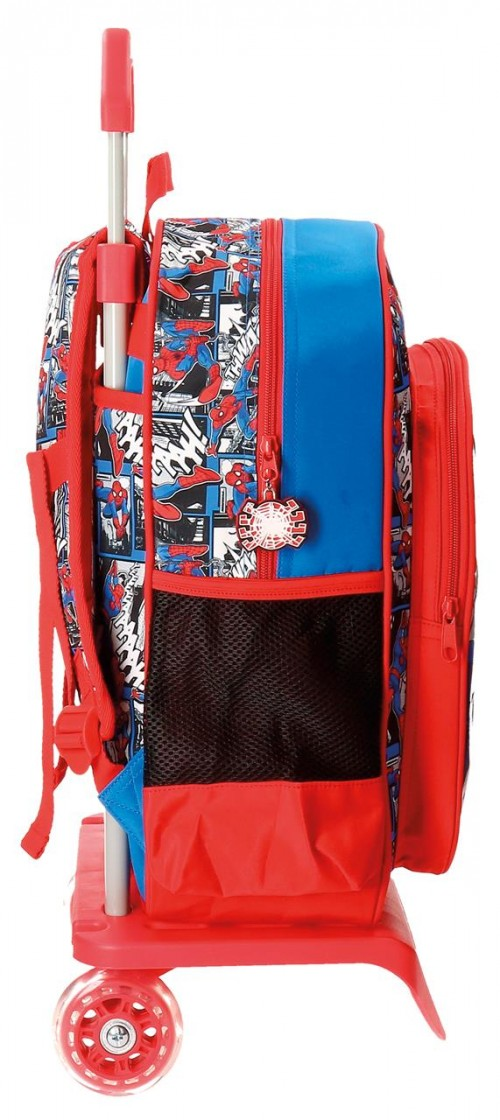 Mochila con Carro 38 cm Spiderman 21623N1 lateral