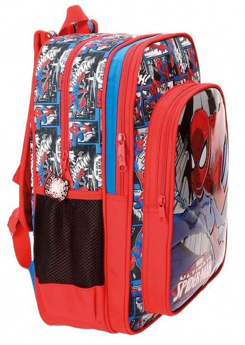 Mochila Doble Compartimento Spiderman 40 cm 21624B1 lateral