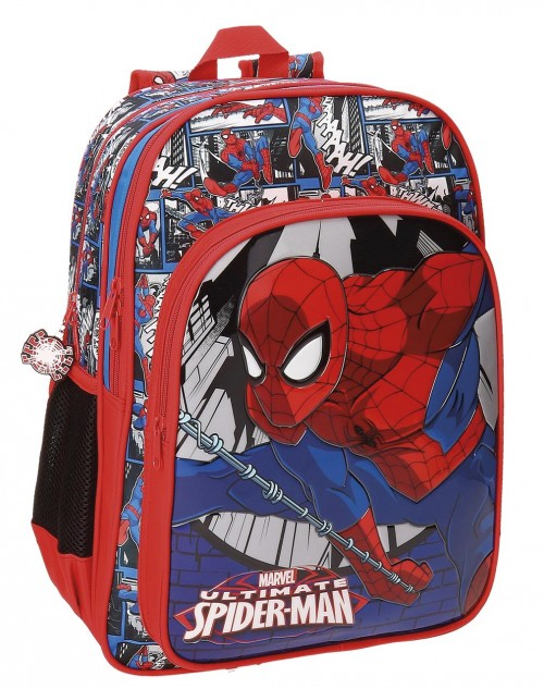 Mochila Doble Compartimento Spiderman 40 cm 21624B1