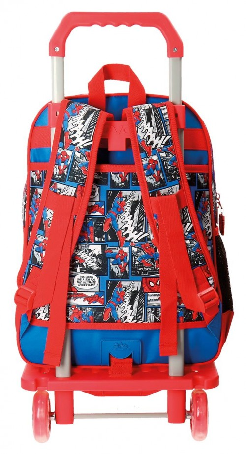 Mochila Carro 40 Cm Spiderman 21624N1 dorsal