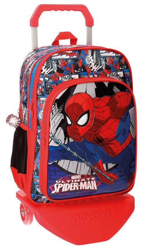 Mochila Carro 40 Cm Spiderman 21624N1