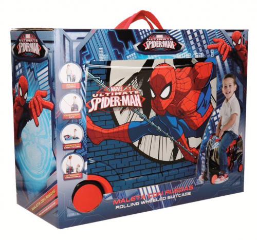 Maleta Infantil 4 Ruedas Spiderman 2169961 presentación en caja