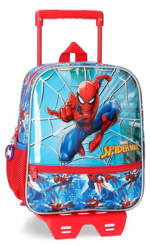 23821N1 mochila 28cm carro spiderman street