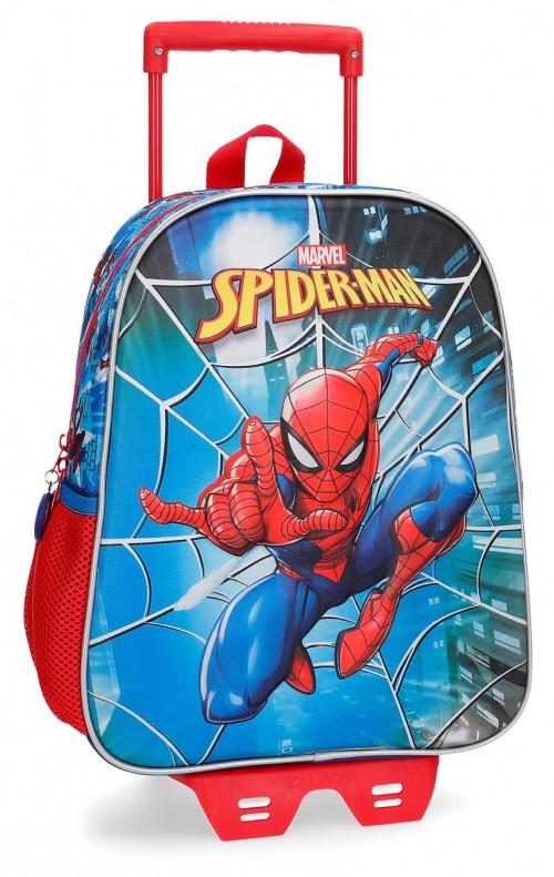 23822N1 mochila 33 cm carro 3 dimensiones spiderman street