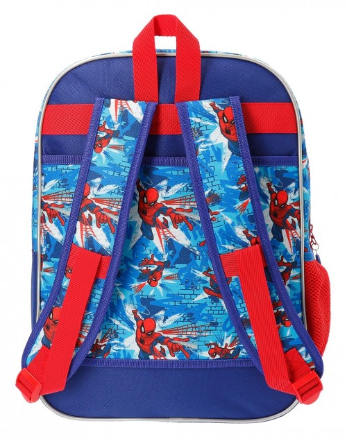 2382361 mochila 40 cm spiderman street  trasera