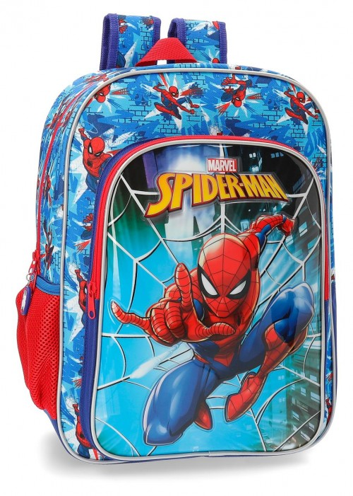 2382361 mochila 40 cm spiderman street adaptable a carro
