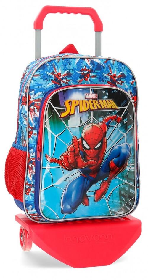 23823N1 mochila 40cm carro spiderman street