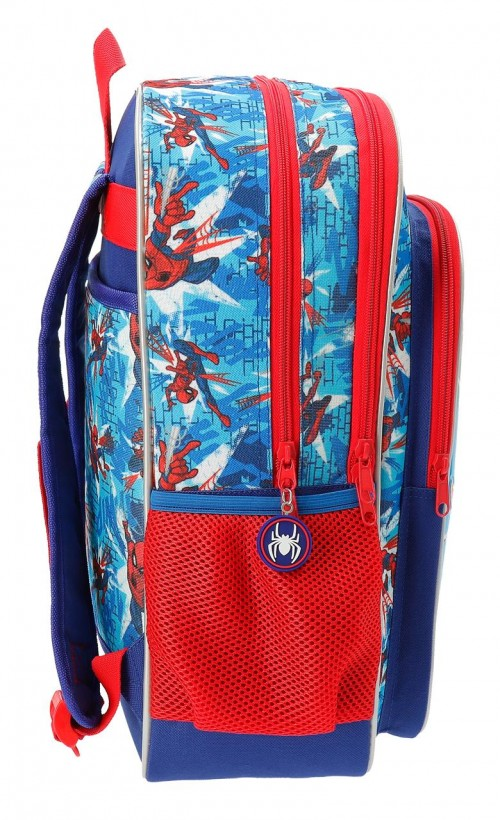 2382461 mochila 40 cm doble compartimento spiderman street lateral