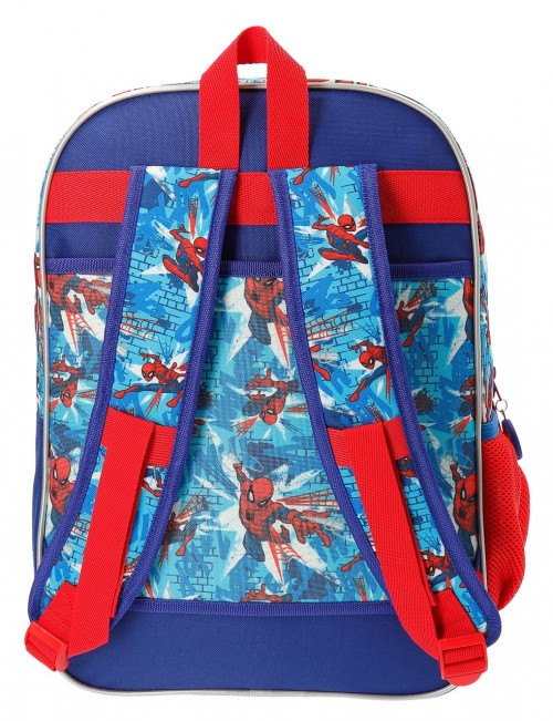 2382461 mochila 40 cm doble compartimento spiderman street trasera