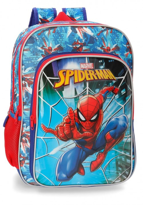 2382461 mochila 40 cm doble compartimento spiderman street