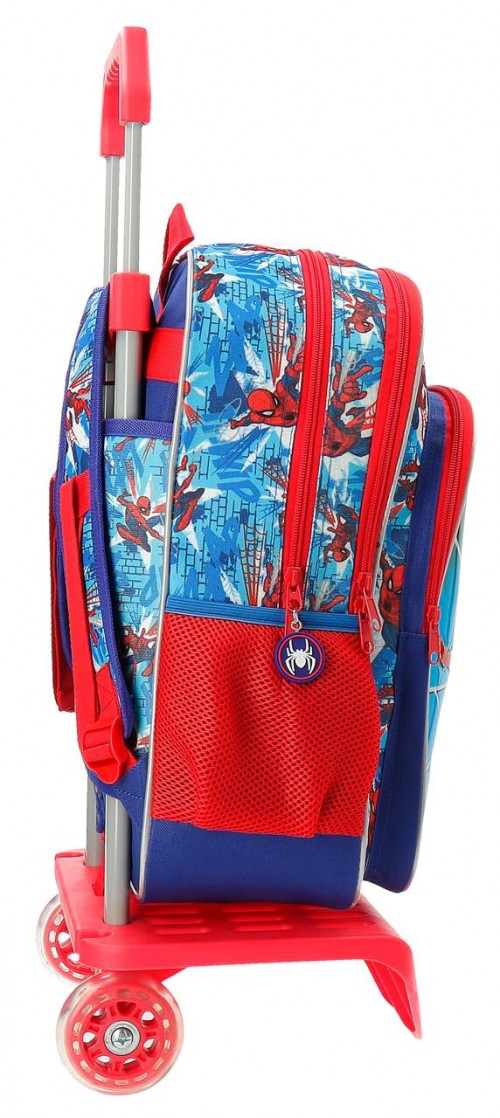 23824N1 mochila 40 cm doble comp. carro spidermen street lateral
