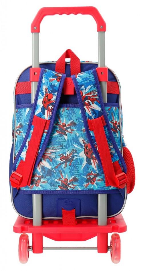 23824N1 mochila 40 cm doble comp. carro spidermen street trasera