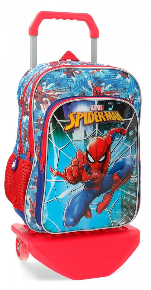 23824N1 mochila 40 cm doble comp. carro spidermen street