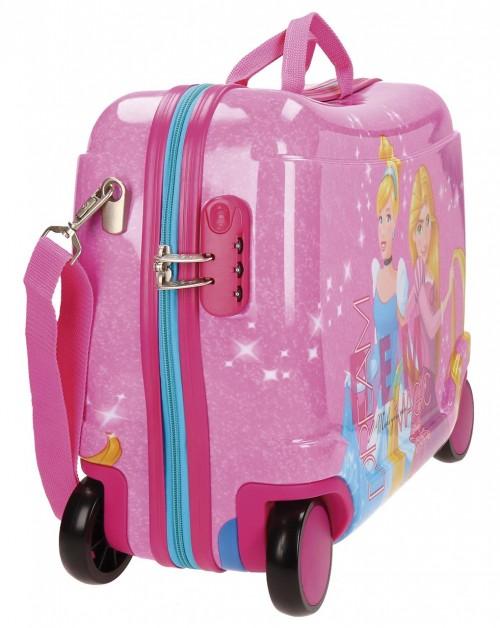 Maleta Infantil 4 Ruedas Princesas Disney 2879951 lateral