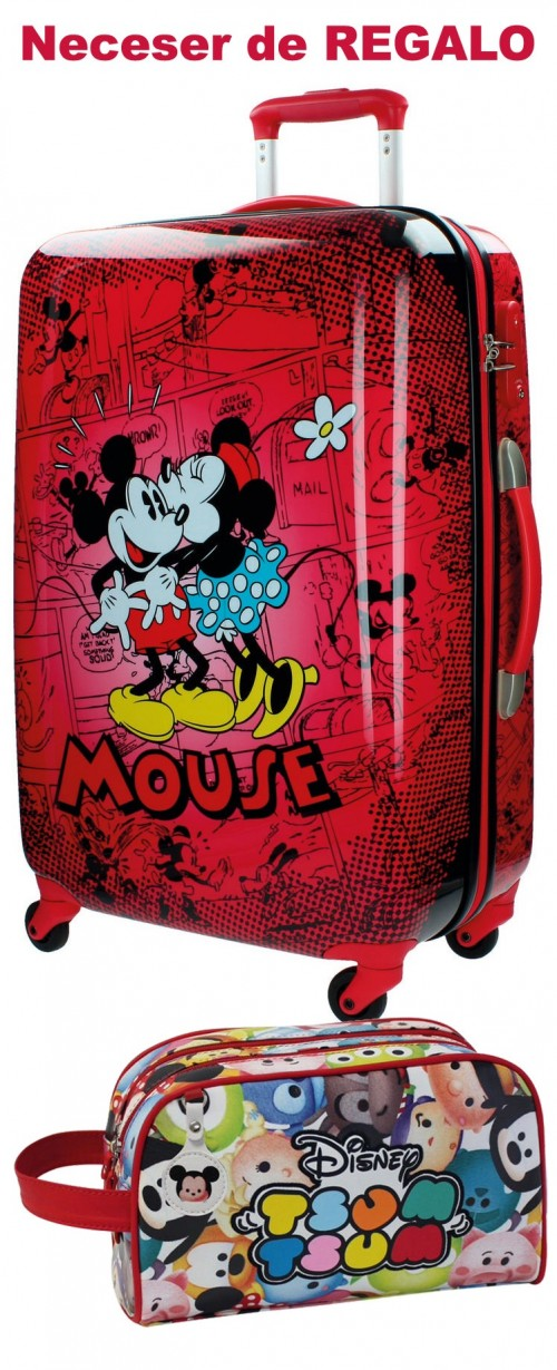 Maleta Mediana Mickey & Minnie Roja 3421551