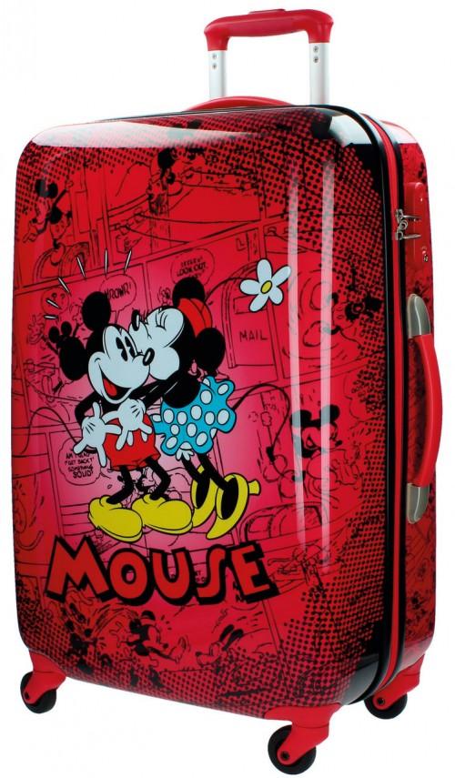 3421551 Maleta mediana Minnie - Mickey retro roja