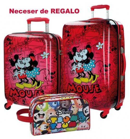Juego Maleta Cabina Y Mediana Mickey & Minnie 3421651