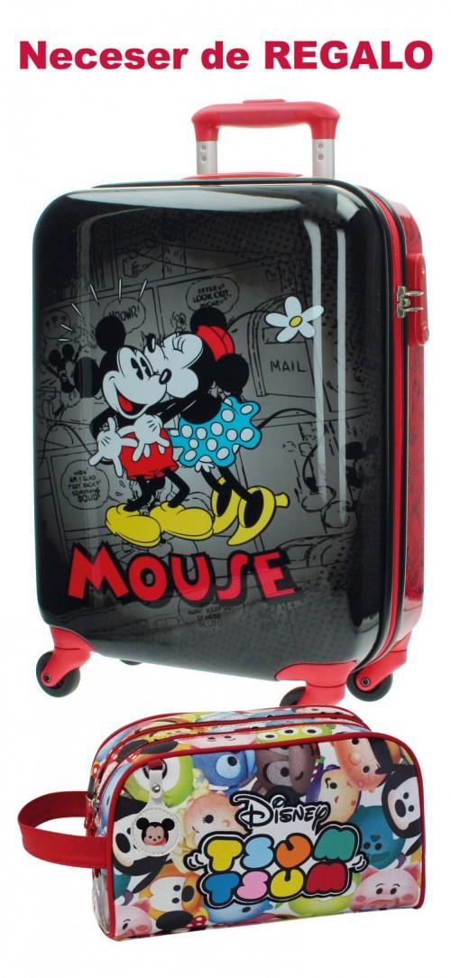 Maleta de Cabina Mickey & Minnie Negra 3431451