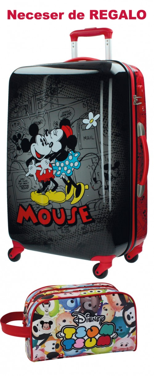 Maleta Mediana Mickey & Minnie Negra 3431551