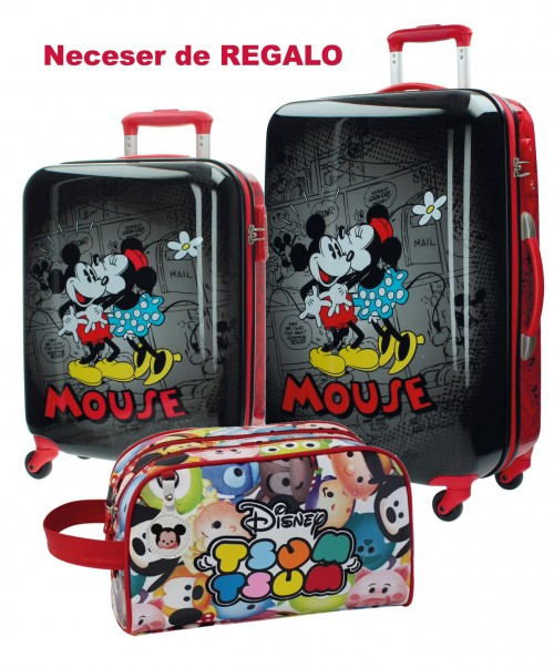 Juego Maleta Cabina y Mediana Mickey & Minnie 3431651