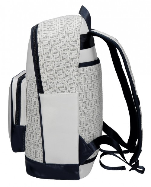 Mochila Real Madrid Blanca 5482351 lateral
