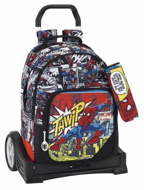 Mochila Reforzada Spiderman Carro Evolution 611743861