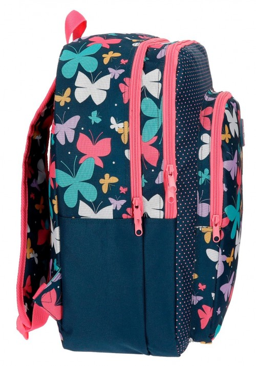 Mochila Doble  Roll Road Butterfly 52324B1  lateral