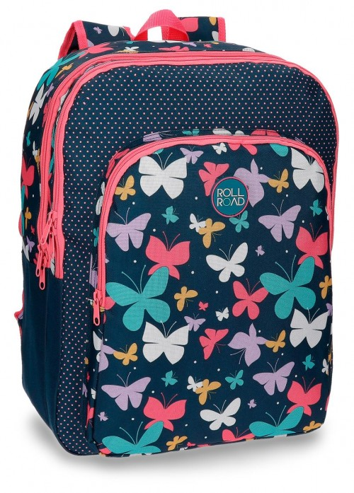 Mochila Doble  Roll Road Butterfly 52324B1