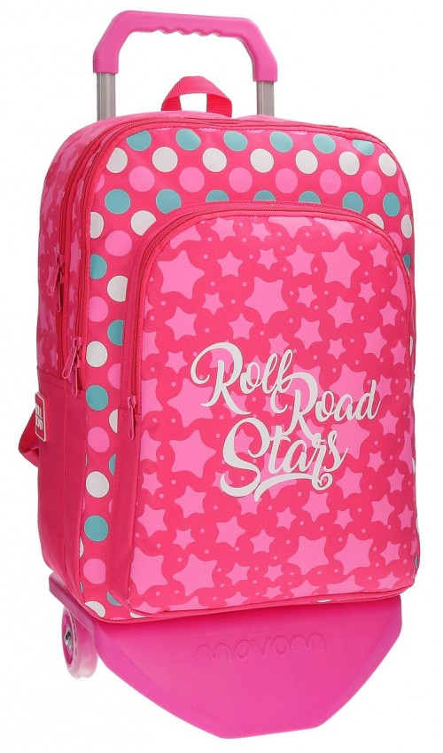 Mochila Doble Roll Road Stars con Carro 52424N1