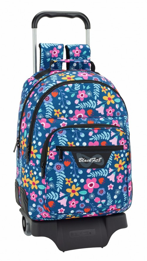 641843313 mochila doble reforzada con carro  BLACKFIT8 FLOWERS