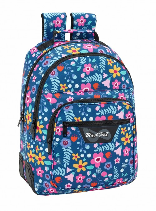 641843773 mochila doble compartimento adaptable reforzada BLACKFIT8 FLOWERS