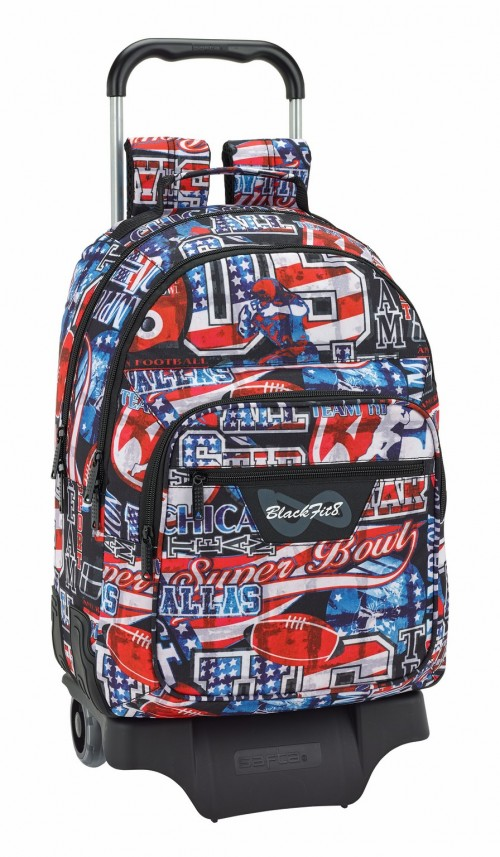 641845313 mochila doble c. reforzada con carro blackfit8 super bowl