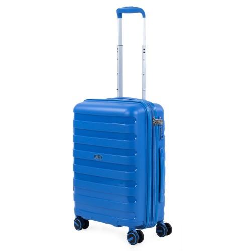 16125002 Maleta Cabina Expandible Jaslen Roma  Polipropileno azul