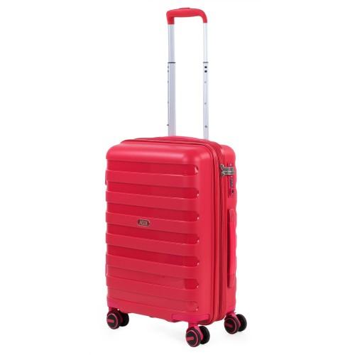 16125003 Maleta Cabina Expandible Jaslen Roma  Polipropileno rojo