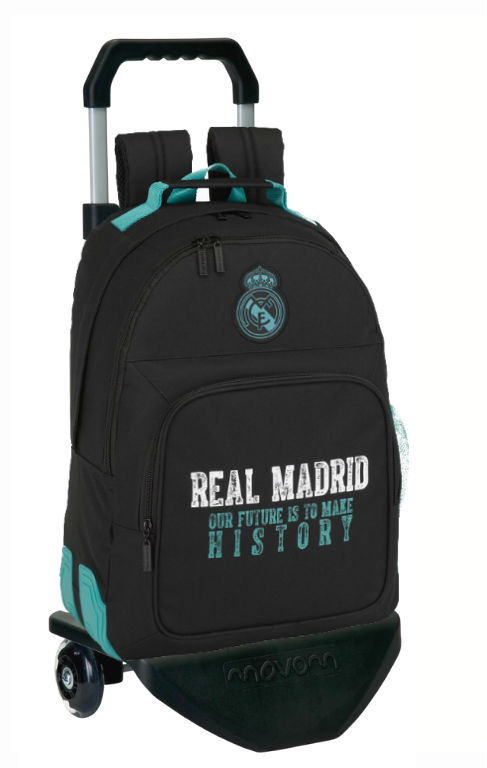 611777863 mochila reforzada con carro real madrid black