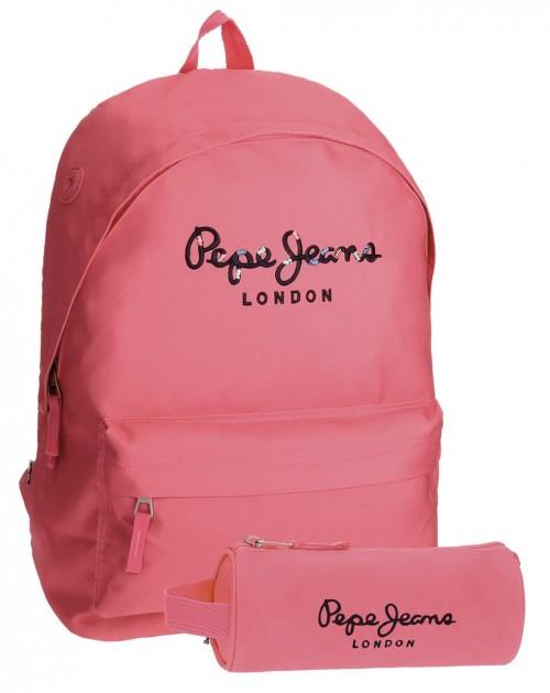 Pack Mochila Pepe Jeans + Portatodo rosa 6682357