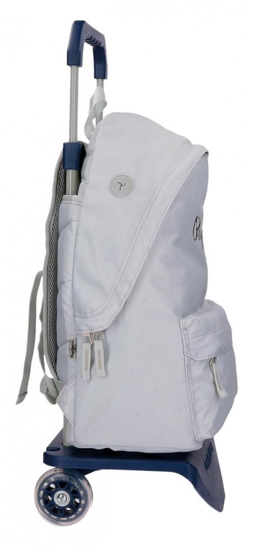 Pack Mochila Carro Pepe Jeans + Portatodo  66823M0 lateral