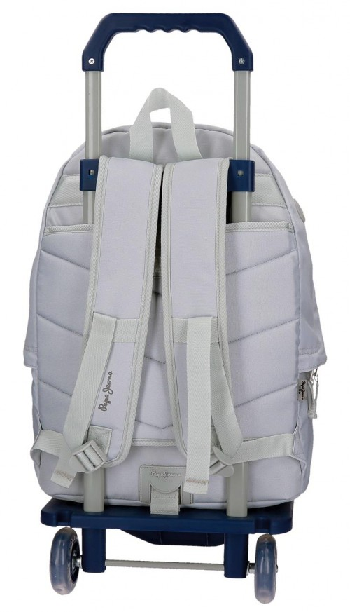 Pack Mochila Carro Pepe Jeans + Portatodo  66823M0-2 dorsal