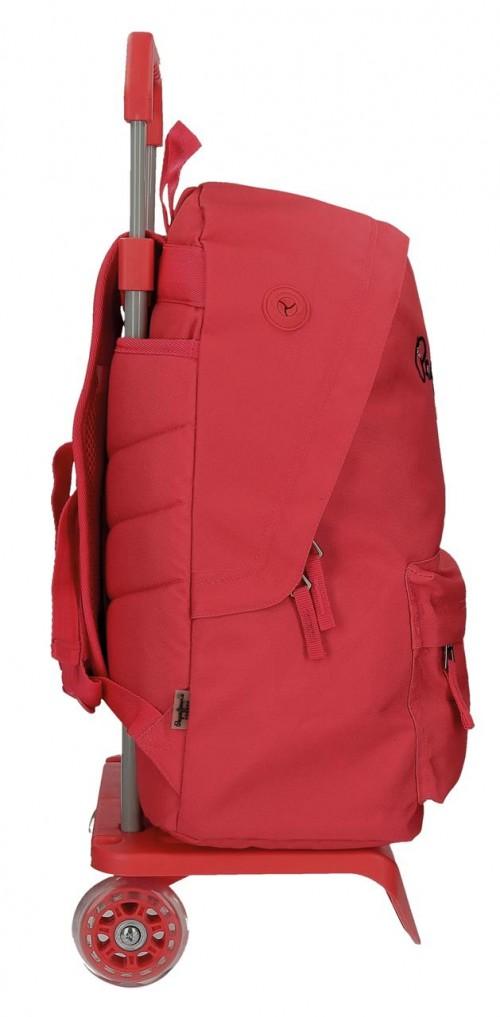 Pack Mochila Carro Pepe Jeans + Portatodo 66823M2-2 lateral