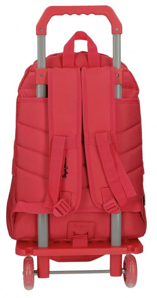 Pack Mochila Carro Pepe Jeans + Portatodo 66823M2-3 dorsal