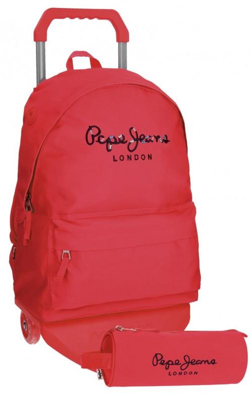 mochila con carro pepe jeans  + portatodo 66823M2