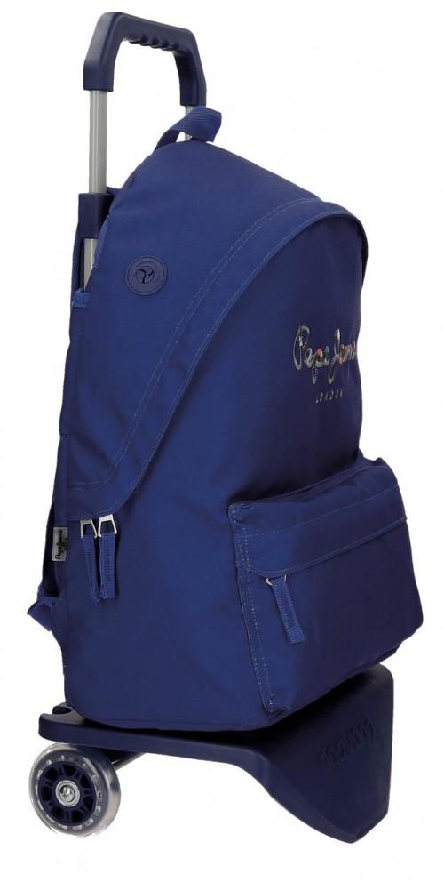 Pack Mochila con Carro Pepe Jeans + Portatodo 66823M3-2 lateral