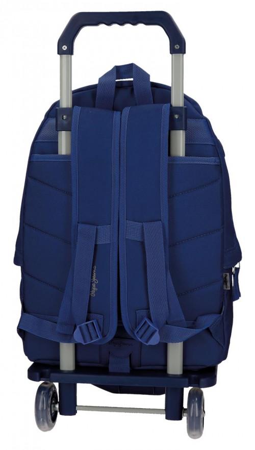 Pack Mochila con Carro Pepe Jeans + Portatodo 66823M3-3 dorsal