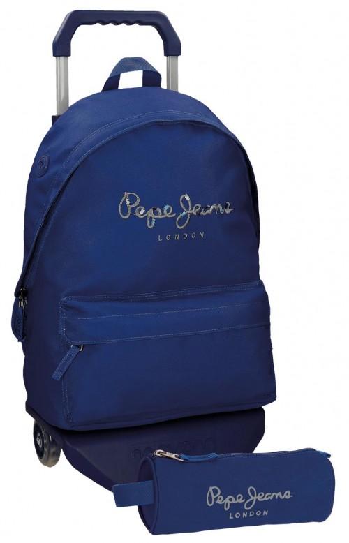 Pack Mochila con Carro Pepe Jeans + Portatodo  66823M3