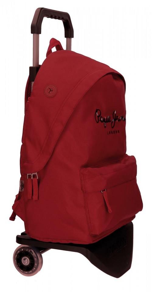 Pack Mochila Carro Pepe Jeans + Portatodo 66823M5-2 lateral