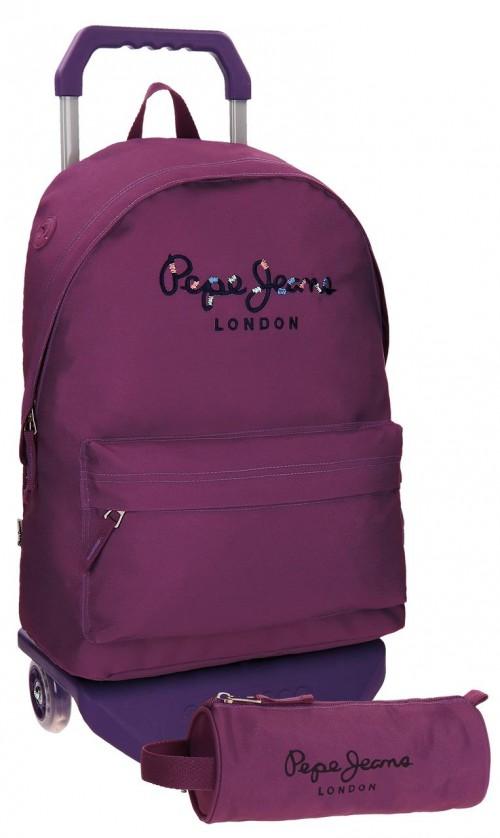 mochila con carro pepe jeans  + portatodo 66823M6